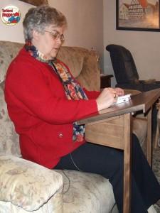 Sofapult für bequeme Ratespiele - erfunden udn getischlert von der Tischlerei Hoppe aus Rinteln
